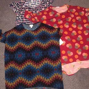 Three lulaRoe shirts